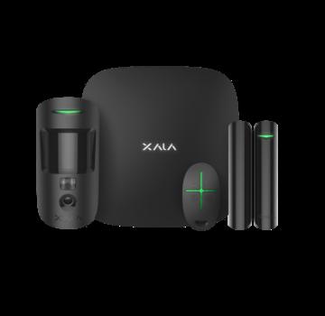 Ajax Ajax StarterKit Cam Plus zwart | Hub 2 Plus | MotionCam | DoorProtect | SpaceControl