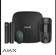 Ajax Ajax Hubkit 2   zwart   2x GSM/LAN hub   motioncam   deurcontact   afstandsbediening