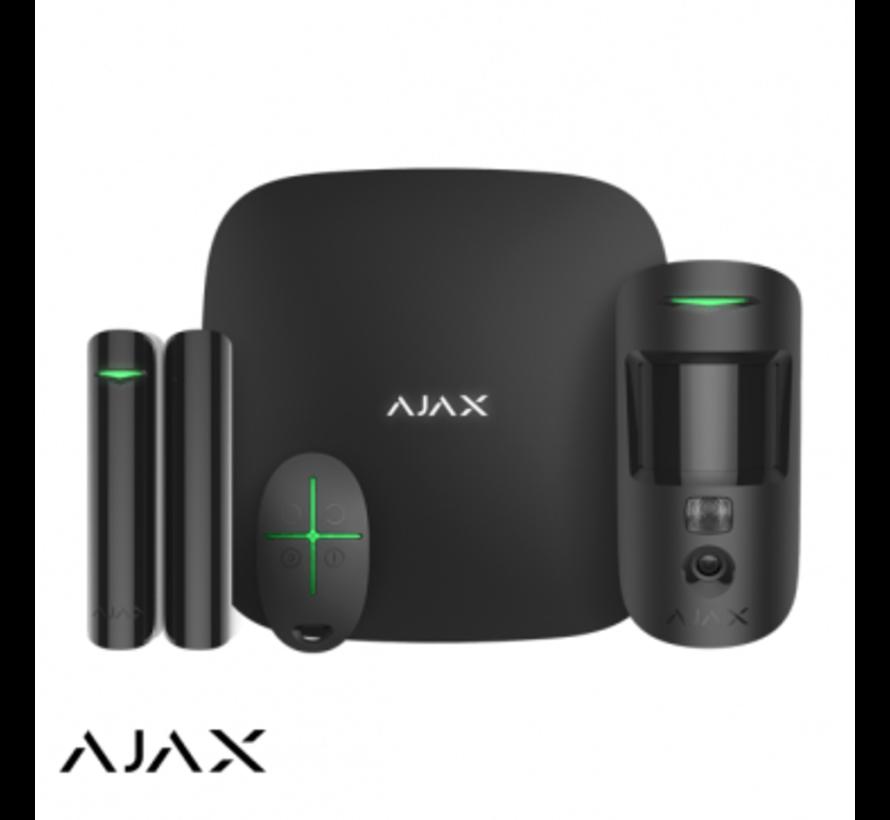 Ajax Hubkit 2   zwart   2x GSM/LAN hub   motioncam   deurcontact   afstandsbediening