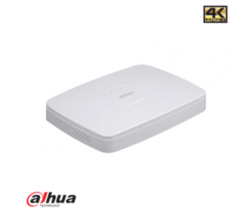 Dahua Dahu 8 kanaals Smart 1U 8PoE 4K&H.265 Lite Netwerk Video Recorder incl 2TB HDD