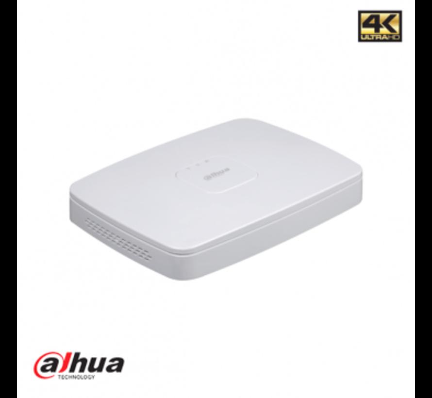 Dahu 8 kanaals Smart 1U 8PoE 4K&H.265 Lite Netwerk Video Recorder incl 2TB HDD