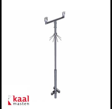 Dahua Kaal kantelbare mast 6m | incl. tweevoudig camera uithouder en cameraopzetstuk