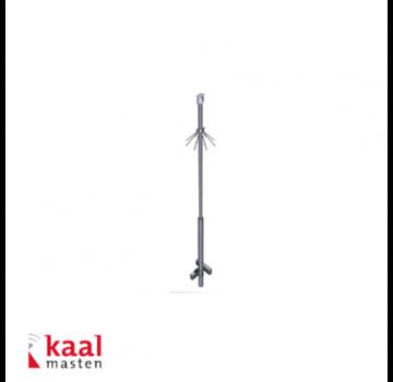 Dahua Kaal mast 4m | incl. demontabel camera opzetstuk