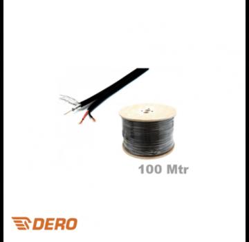 Dahua Coax combi kabel RG59+ 2*0.75mm2 haspel 100 meter