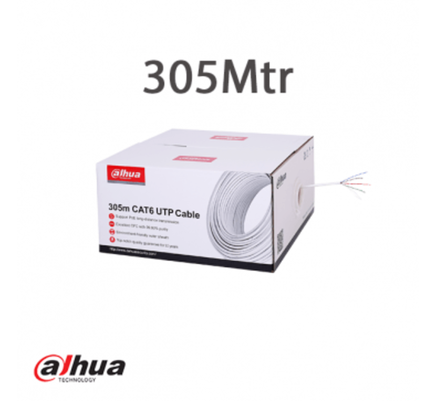 Dahua 305m UTP CAT6 Cable CPR Eclass