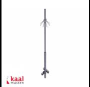 Dahua Kaal mast 3m | zonder camera opzetstuk | incl. inslagdop
