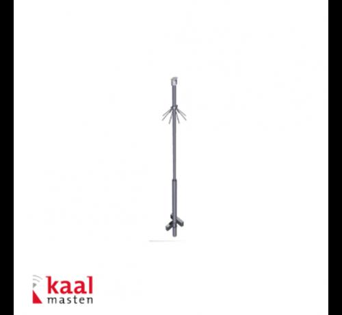 Dahua Kaal kantelbare mast 4m | incl. demontabel camera opzetstuk