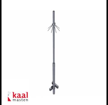 Dahua Kaal mast 4m | zonder camera opzetstuk | incl. inslagdop