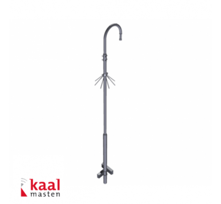Kaal mast 3m | incl. dome camera uithouder