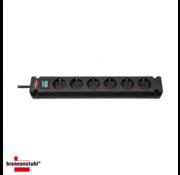 Dahua Brennenstuhl Bremounta | stekkerdoos | 6 sockets | 3m | zwart