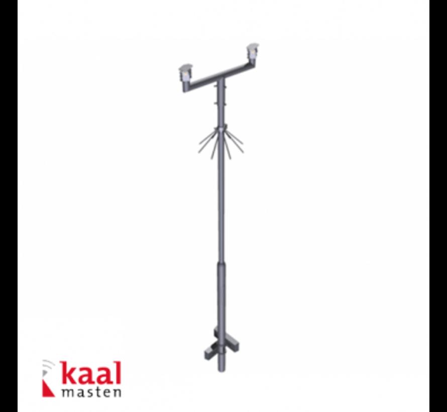 Kaal mast 6m | incl. tweevoudig camera uithouder en cameraopzetstuk
