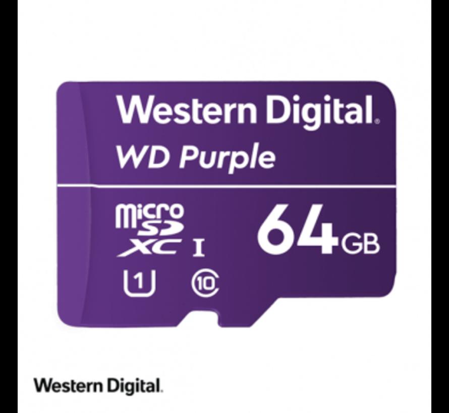 WD Purple 64GB microSDXC card