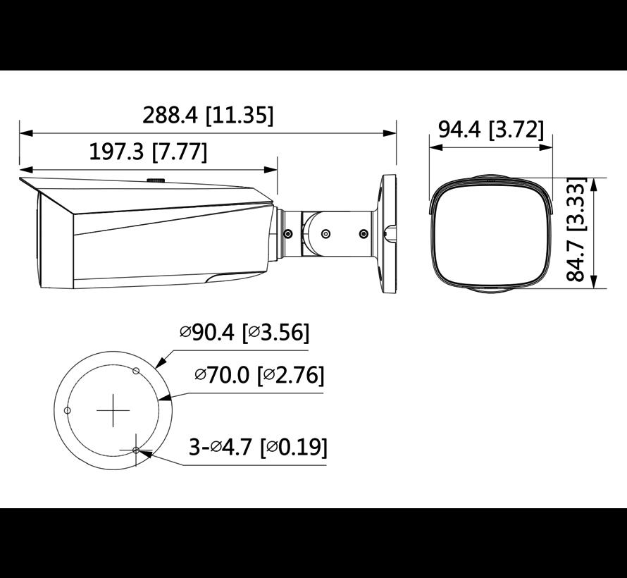 Dahua 4MP | Full-colour | Actieve afschrikking | Bullet | WizSense-netwerkcamera | Fixed-focal | 3.6mm