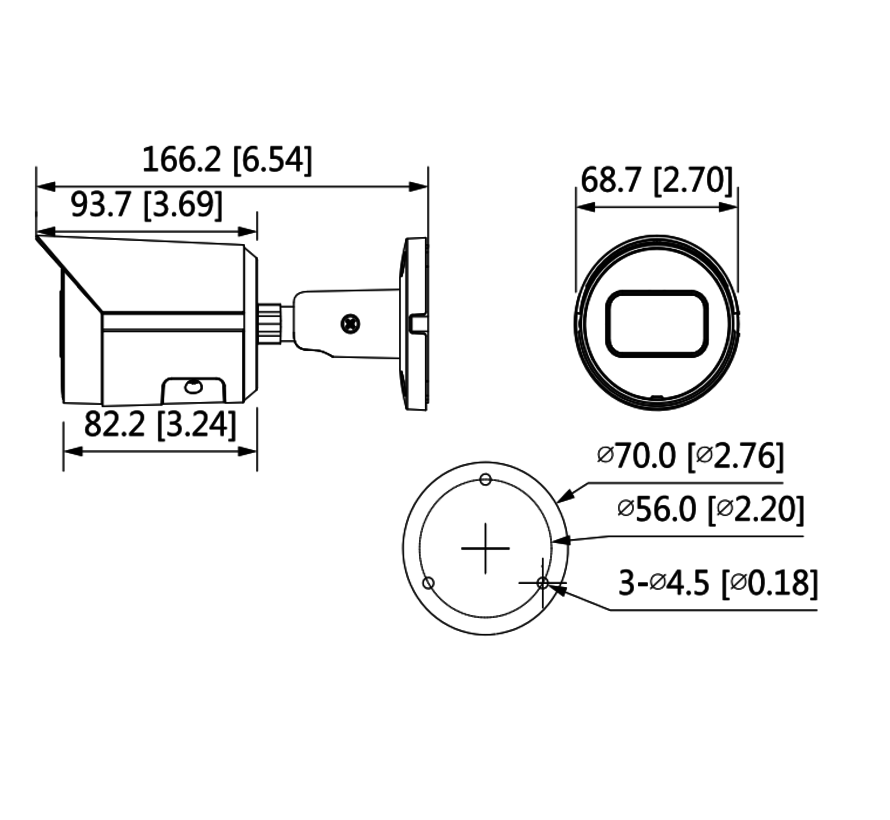 Dahua 4MP | WDR | IR Bullet | Netwerk camera | 2.8mm