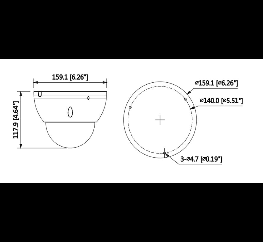 Dahua 2MP | WDR | IR IP Vari-focal Dome | AI WizMind | 7-35mm