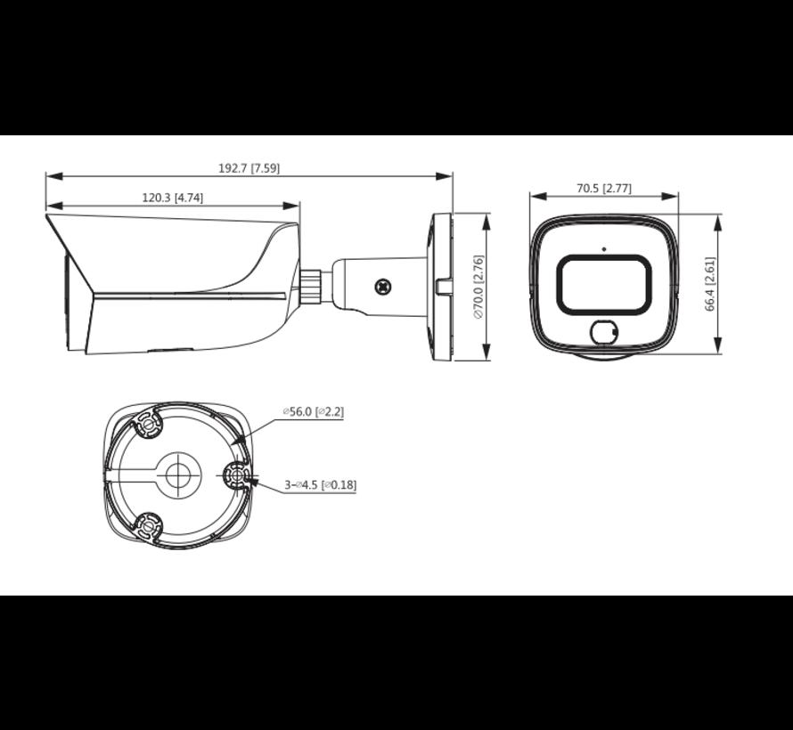Dahua 4MP | Lite AI | Full-color | Warm wit licht LED | Bullet netwerk camera | 2.8mm
