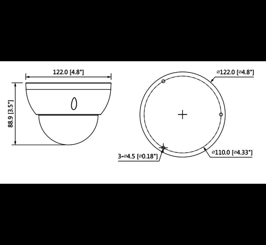 Dahua 2MP | Lite AI | IR Vari-focal Dome | Netwerk camera | Zwart
