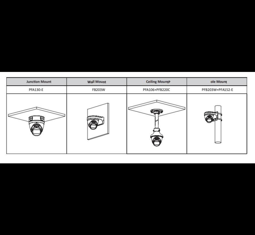 Dahua 5MP | Motorized 2.7-13.5mm | IR Dome | Netwerk camera | Zwart