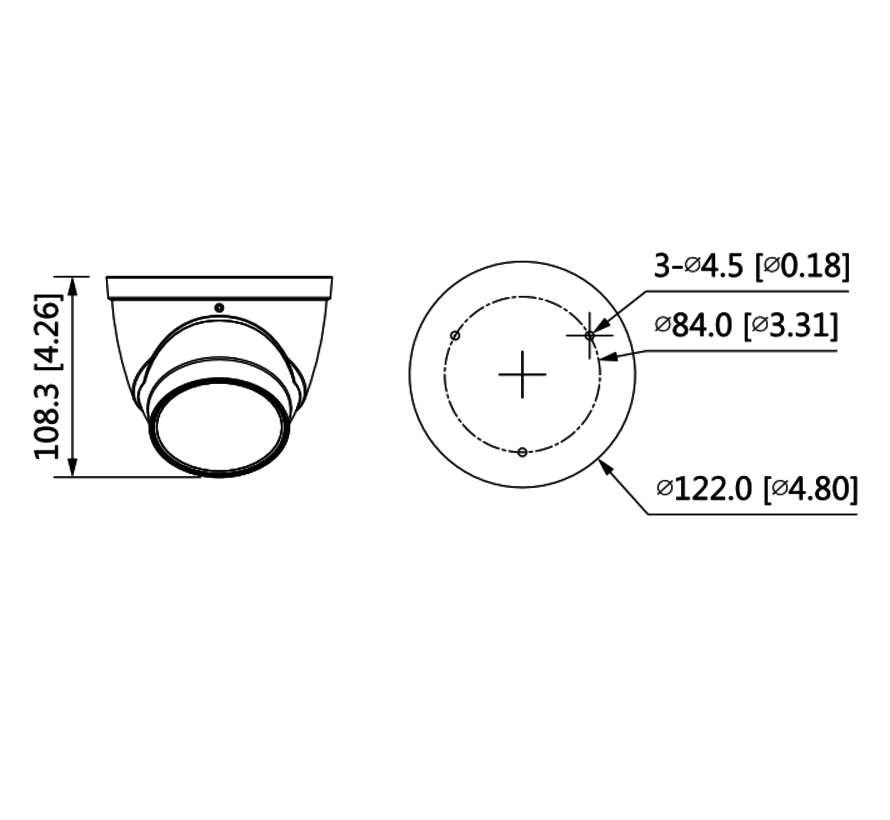 Dahua 4MP | Lite AI | IR Vari-focal Eyeball | Netwerk camera