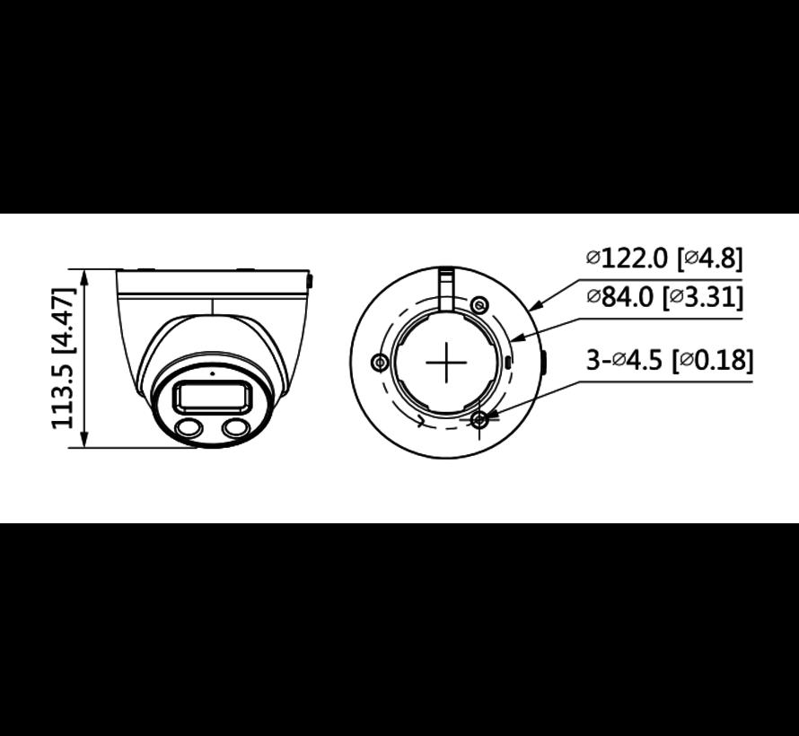 Dahua 2MP | WDR IR | Eyeball AI | Active Deterrence | Netwerk camera | 2.8mm