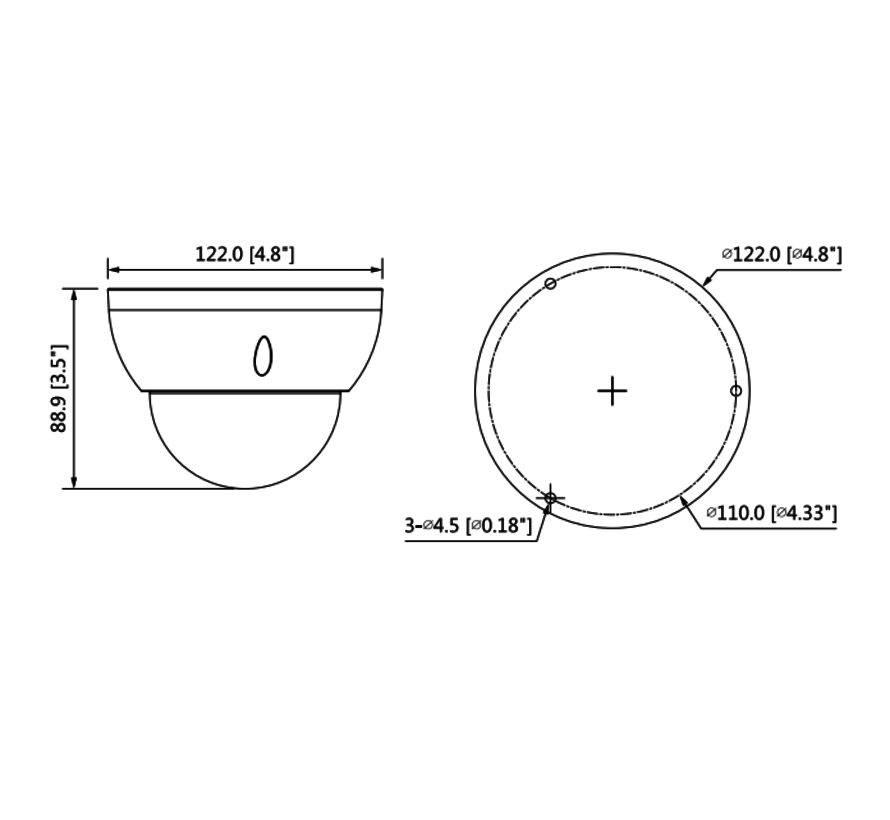 Dahua 2MP | Lite AI | IR Vari-focal | 2.7-13.5mm | Dome | Netwerk camera