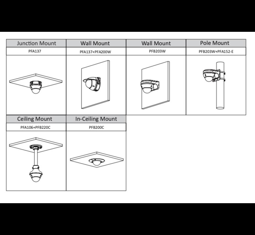 Dahua 4MP | Lite AI | IR Vari-focal | Dome | Netwerk camera | Zwart
