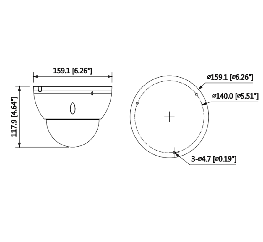 Dahua 2MP | WDR | IR Dome | AI Netwerk camera | 2.7-13.5mm