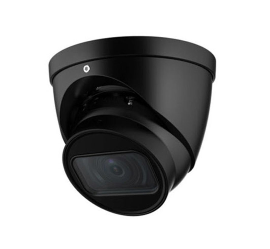 Dahua 4MP | Lite AI | IR Vari-focal Eyeball | Netwerk camera | Zwart
