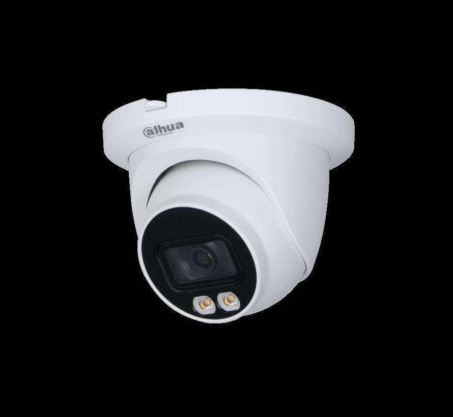 Dahua 4MP | Lite | AI Full-color | Warm wit licht LED | Eyeball | Netwerk camera | 3.6mm
