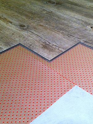 Klikvloeren Online Red Floor ondervloer
