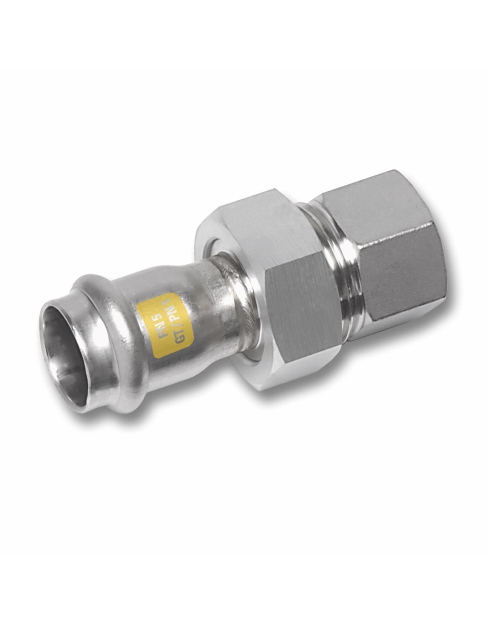 Nirosan Gas 3 delige koppeling 1M + binnendraad rvs