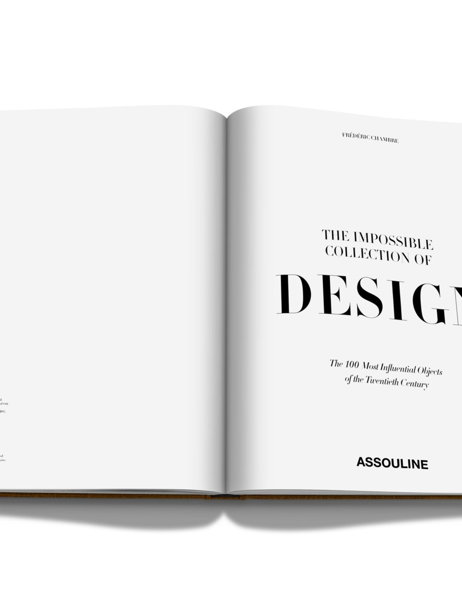 ASSOULINE THE IMPOSSIBLE COLLECTION OF DESIGN