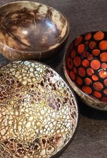 P'TIT POT MOTHER OF PEARL COCONUT BOWL - ORANJE MET PARELMOER