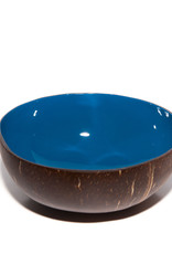 P'TIT POT LACQUER COCONUT BOWL - DONKERBLAUW