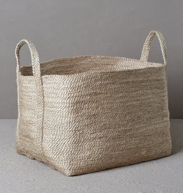 THE DHARMA DOOR LARGE JUTE BASKET