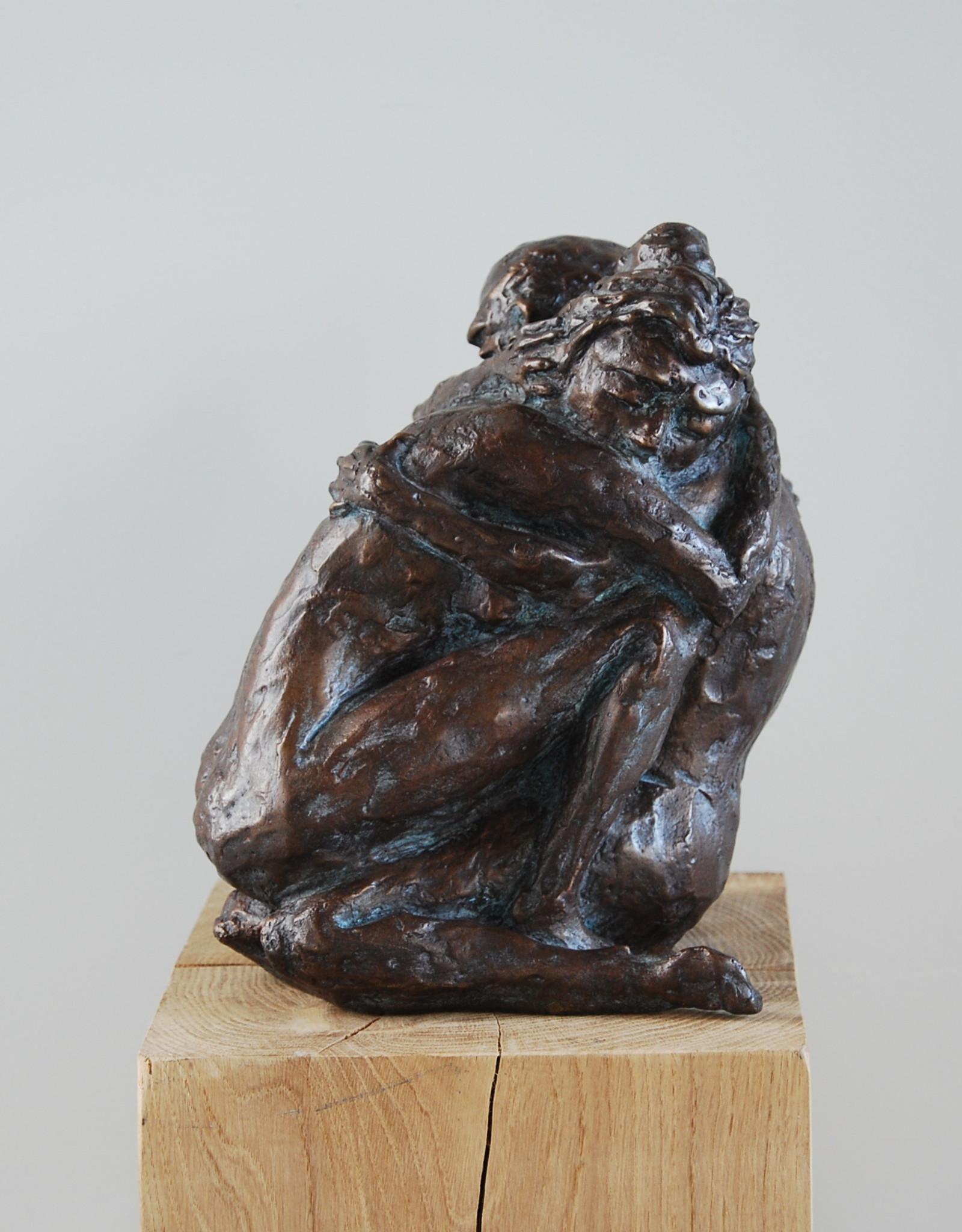 JACQUES VANROOSE INTENSE LOVE - BRONZEN BEELD