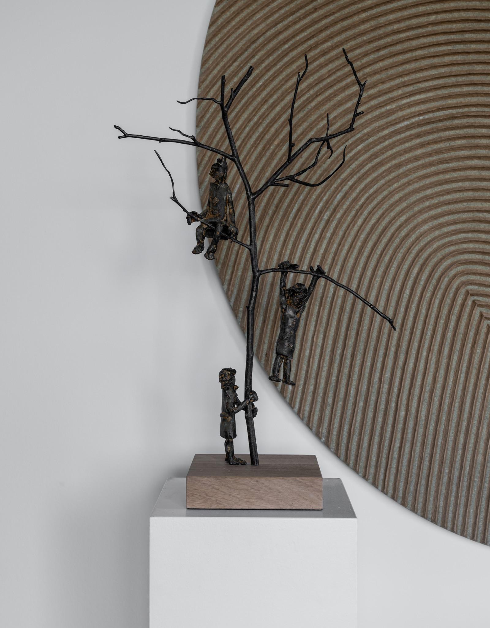 FREDDY DE WAELE TREE OF JOY - BRONZEN BEELD