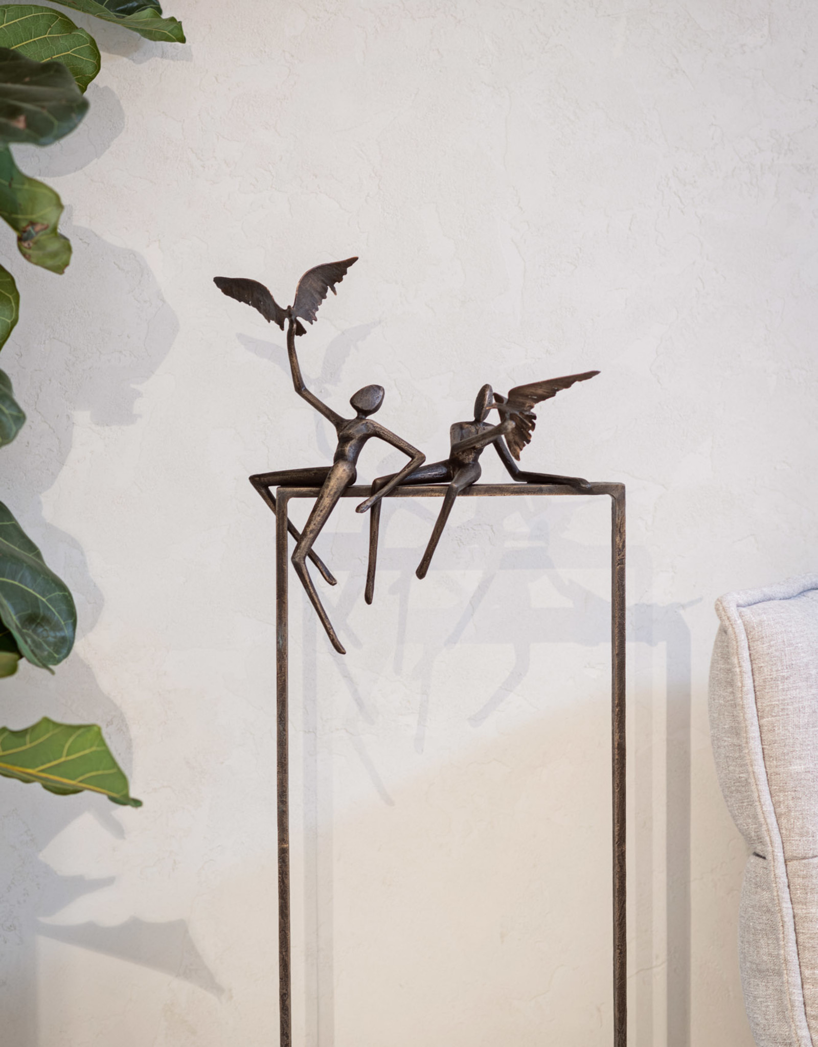 GUY BUSEYNE LOVE BIRDS - BRONZEN BEELD