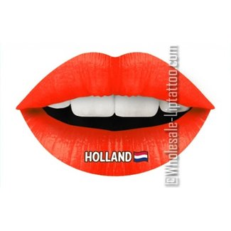 Temporäre Lippe Tattoo - Hup Holland Hup