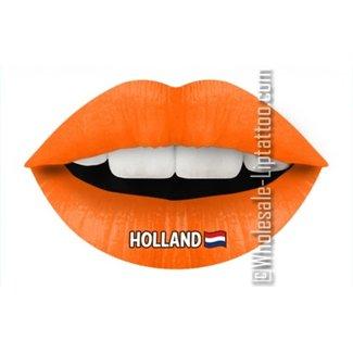 Temporäre Lippe Tattoo - Hup Holland Hup orange Licht
