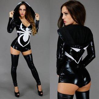 Partei Kostüme Spider Woman Kostüm Schwarz