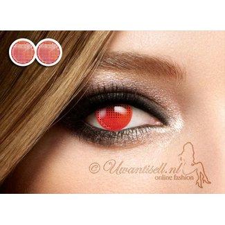 Crazy Lenses: Objektive Red Creapy völlig undurchsichtig Gitter