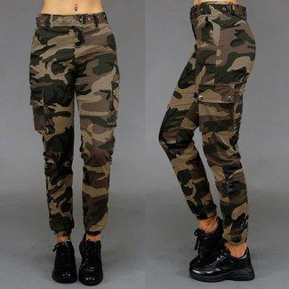 Mode grüne Tarnung Hosen