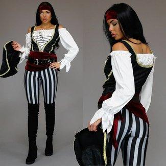 Piraten-Anzug mit Hosen und Accessoires