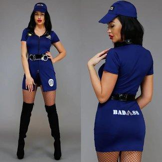 Sexy Polizei Kostüm mit Hotpants und Gürtel