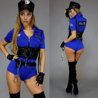 Hot Cop Polizei Playsuit Blau