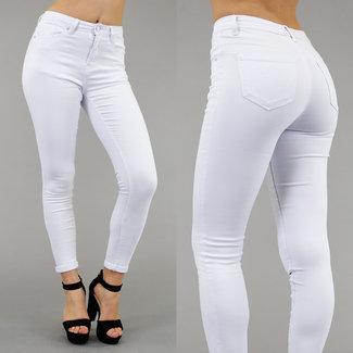 Weiß High Waist Jeans-Abdeckung