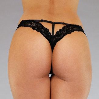 Schwarz Hose mit Spitze und Straps