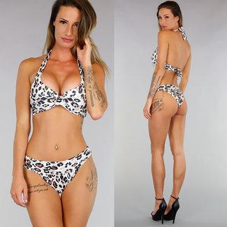 !OP=OP Halter-Bikini-Bracket mit Leopard-Druck