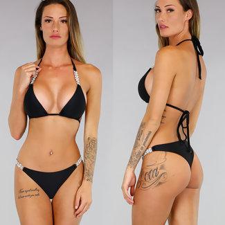 Sexy Black Bikini mit Glitzer-Details